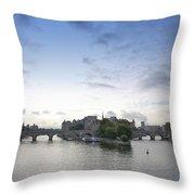 Bridges On River Seine. Paris. France Throw Pillow