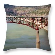 Bridging The Canyon Throw Pillow