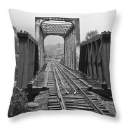Bridging The River Throw Pillow