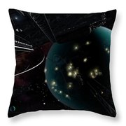 Bright Blisters Of Nuclear Energy Throw Pillow