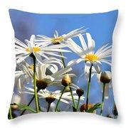 Bright Daisies Throw Pillow