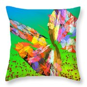 Bright Elusive Butterflys Of Love Throw Pillow