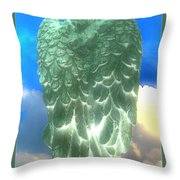 Bright Glow Angle Wings Throw Pillow