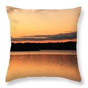 Bright Morning Skies On The Lake Throw Pillow