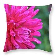 Bright Pink Dahlia Throw Pillow