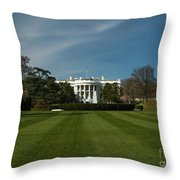 Bright Spring Day At The White House Throw Pillow