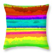 Bright Stripe Throw Pillow