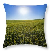 Bright Sun And Bloom Stage Mustard Throw Pillow