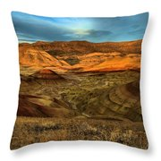 Brightly Painted Hills Throw Pillow