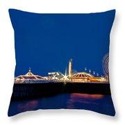 Brighton Palace Pier Throw Pillow