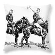Brighton Polo Club, 1877 Throw Pillow