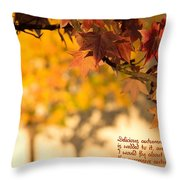 Brilliant Autumn Color Throw Pillow