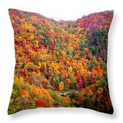 Brilliant Color Trees Throw Pillow