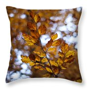 Brilliant Leaves Throw Pillow