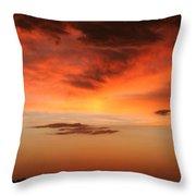 Brilliant Sunrise Over Montevideo Throw Pillow