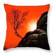 Brimham Sunset Throw Pillow