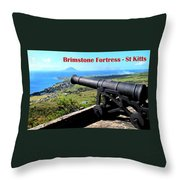 Brimstone Fortress Poster Throw Pillow