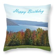 Bristol Harbor Birthday  Throw Pillow