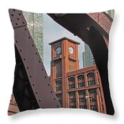 Britannica Building Chicago Illinois Throw Pillow