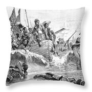 British At Aboukir, 1801 Throw Pillow