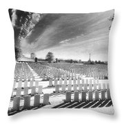 British Cemetery Throw Pillow