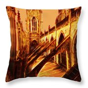 British Christian Cathedral  Throw Pillow