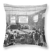 British Ragged School Throw Pillow