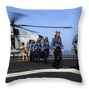 British Sailors Are Escorted Off An Throw Pillow