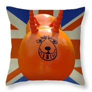 British Space Hopper Throw Pillow