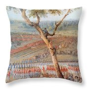 British Troops Surrender At Yorktown Throw Pillow