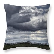 Brittany Coast Storm Throw Pillow