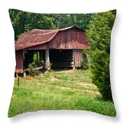 Broad Roofed Barn Throw Pillow by Douglas Barnett