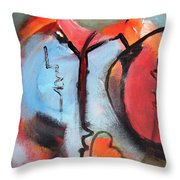 Broken And Blue Heart Throw Pillow