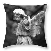 Broken Angel Bw Throw Pillow