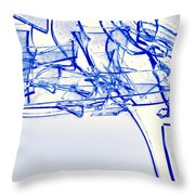Broken Glass Blue  Throw Pillow