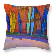 Broken Kayaks  Throw Pillow