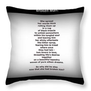 Broken Man Throw Pillow