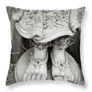 Broken Statue Throw Pillow