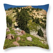 Brokeoff Mountain Throw Pillow