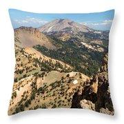 Brokeoff Mountain Peak Throw Pillow