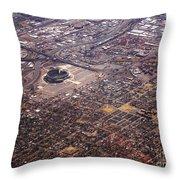 Broncos Stadium Aerial Throw Pillow