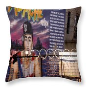 Bronx Graffiti. Headache - 1 Throw Pillow