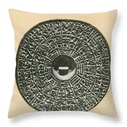 Bronze Compass, Ming Dynasty Throw Pillow