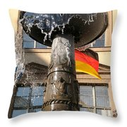 Bronze Fountain Throw Pillow