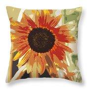 Bronze Sunflower Throw Pillow
