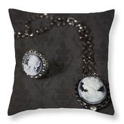 Brooch And Necklace Throw Pillow by Joana Kruse
