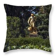 Brookgreen Golden Statue Throw Pillow