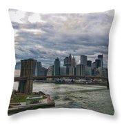 Brooklyn Bridge Carousel Throw Pillow