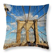 Brooklyn Bridge Summer Throw Pillow