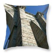 Brooklyn Bridge Tower I Throw Pillow